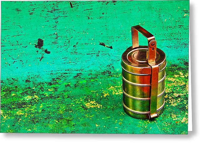 Lunch Box Greeting Cards - Lunch Box Greeting Card by Prakash Ghai