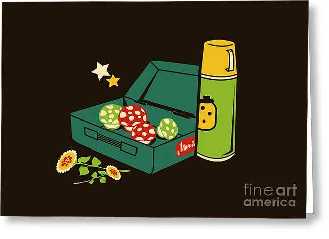 Funny Mario Art Greeting Cards - Lunch for all Greeting Card by Budi Satria Kwan