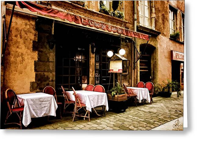 Menu Greeting Cards - Lunch in Lyon Greeting Card by Pennie  McCracken
