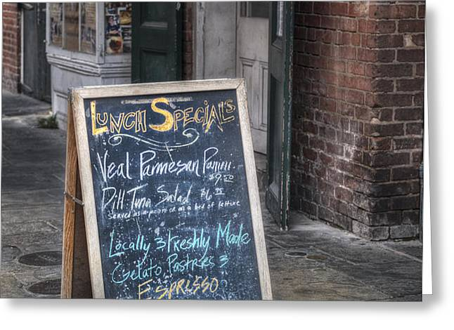 Lunch Specials Greeting Card by Brenda Bryant