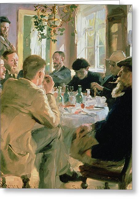 Scandinavian Greeting Cards - Lunchtime, 1883 Greeting Card by Peder Severin Kroyer