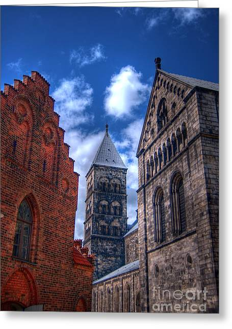 Protestantism Greeting Cards - Lund Cathedral HDR 02 Greeting Card by Antony McAulay