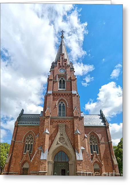 Lund Greeting Cards - Lund church 02 Greeting Card by Antony McAulay