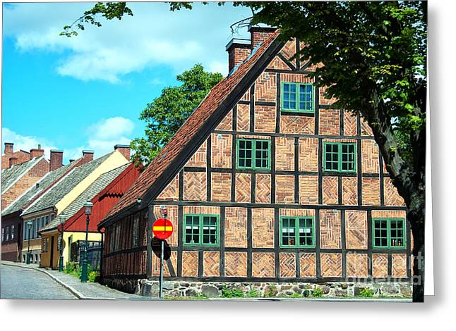 Lund Greeting Cards - Lund old building 02 Greeting Card by Antony McAulay