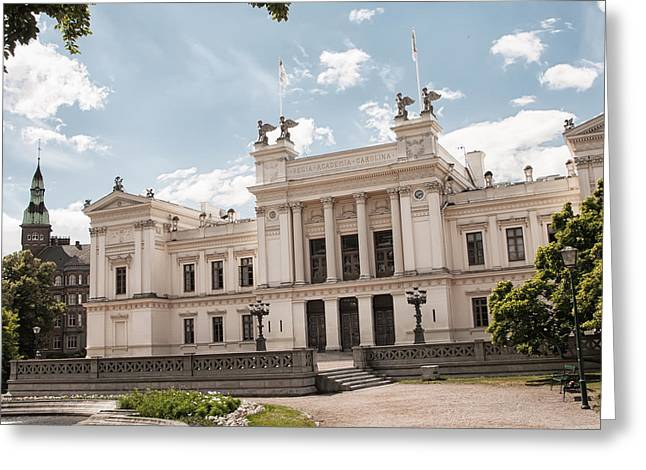 Lund Greeting Cards - Lund University Grounds Greeting Card by Antony McAulay