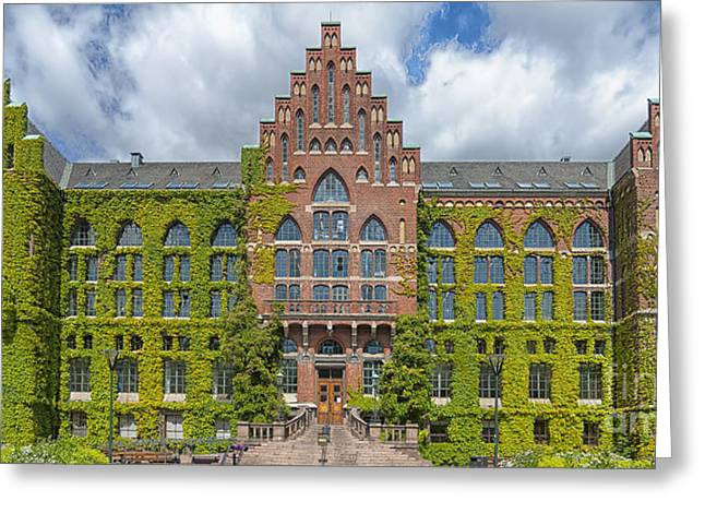Lund Greeting Cards - Lund University Library Greeting Card by Antony McAulay