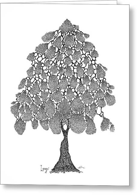 British Columbia Drawings Greeting Cards - Lungs Greeting Card by Andrea Currie