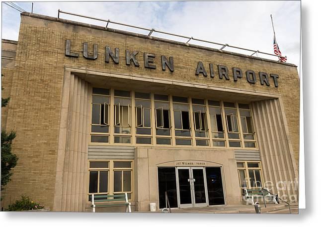 Municipal Greeting Cards - Lunken Airport in Cincinnati Ohio Greeting Card by Paul Velgos