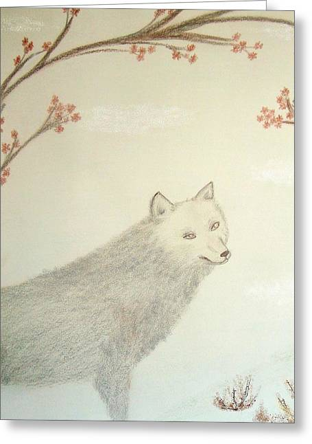 Twilight Pastels Greeting Cards - Lupa Greeting Card by Christine Corretti