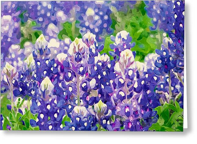 Organic Greeting Cards - Lupine flowers meadow Greeting Card by Lanjee Chee