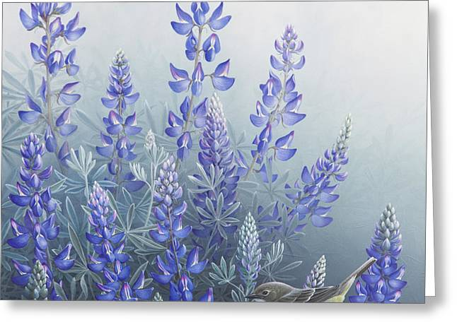 Lupine Greeting Card by Mike Stinnett