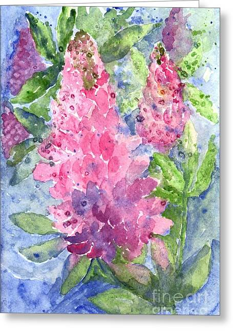 Loose Pastels Greeting Cards - Lupine Time Greeting Card by Carol Wisniewski