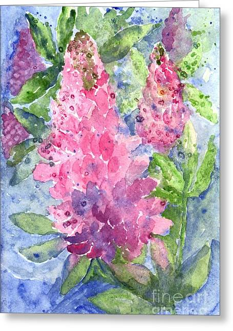 Spring Pastels Greeting Cards - Lupine Time Greeting Card by Carol Wisniewski