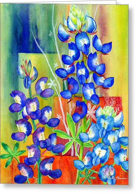 Texas Wild Flowers Greeting Cards - Lupinus Texensis Greeting Card by Hailey E Herrera