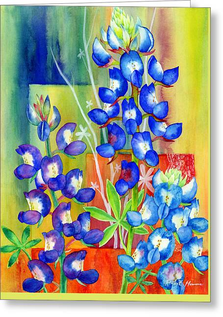 State Flowers Greeting Cards - Lupinus Texensis Greeting Card by Hailey E Herrera