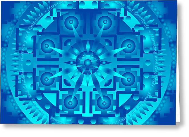 Metaphysics Greeting Cards - Lupus and Arthritis Healing Mandala Greeting Card by Sarah  Niebank