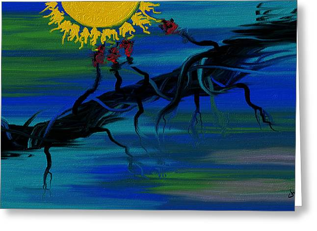 Disability Paintings Greeting Cards - Lupus Greeting Card by Judi Walters