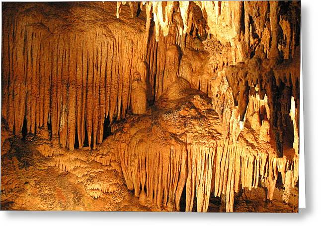 Caves Photographs Greeting Cards - Luray Caverns - 1212163 Greeting Card by DC Photographer