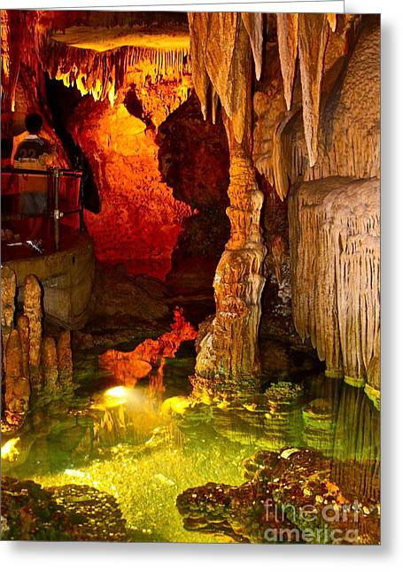 Water In Caves Greeting Cards - Luray Caverns Pond - No.9042 Greeting Card by Joe Finney