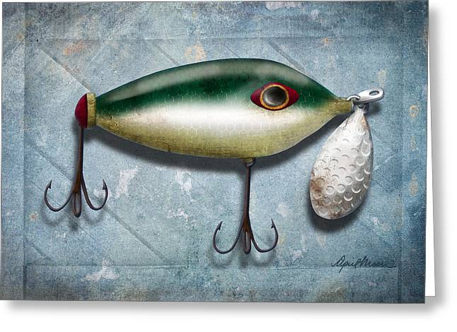 Lure I Greeting Card by April Moen