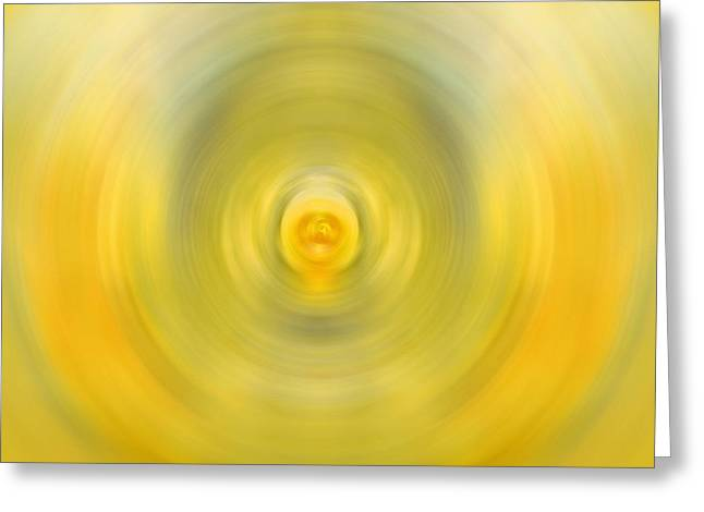 Lemon Art Greeting Card featuring the painting Luscious Lemon - Abstract Art By Sharon Cummings by Sharon Cummings