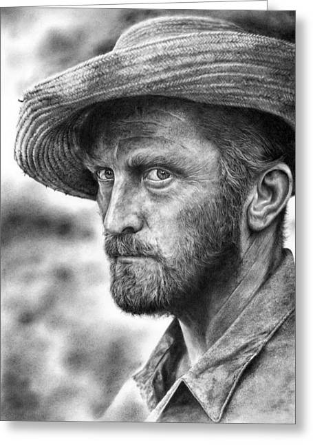 Kirk Douglas Greeting Cards - Lust For Life Greeting Card by Peter Williams