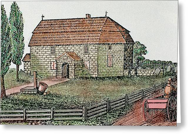 Lutheran Church Built In 1743 Trappe Greeting Card by Prisma Archivo