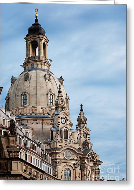 Frauenkirche Greeting Cards - Lutheran church in Dresden Greeting Card by Jelena Jovanovic