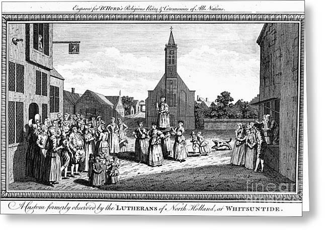 LUTHERAN WEDDING, 1700s Greeting Card by Granger