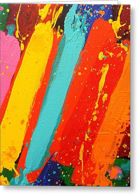 Abstract Music Greeting Cards - Lux II Greeting Card by John  Nolan