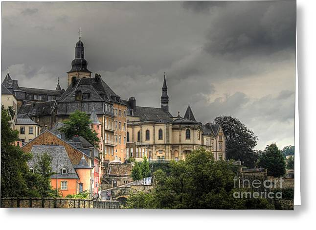 Luxembourg Greeting Cards - Luxembourg City Greeting Card by Emily Enz