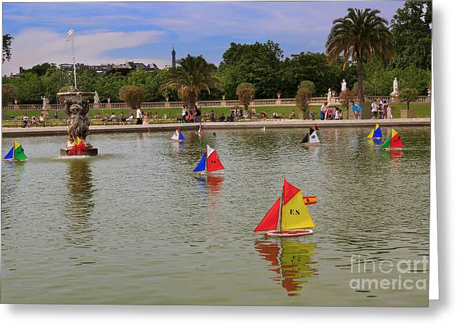 Bassin Greeting Cards - Luxembourg Gardens Paris Greeting Card by Louise Heusinkveld