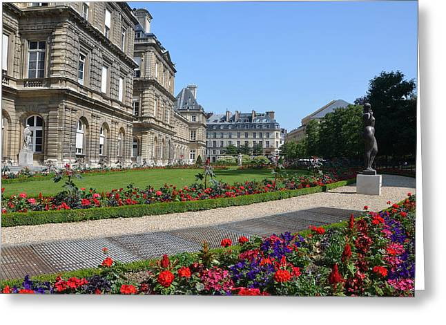 Luxembourg Palace In Paris Greeting Card by RicardMN Photography