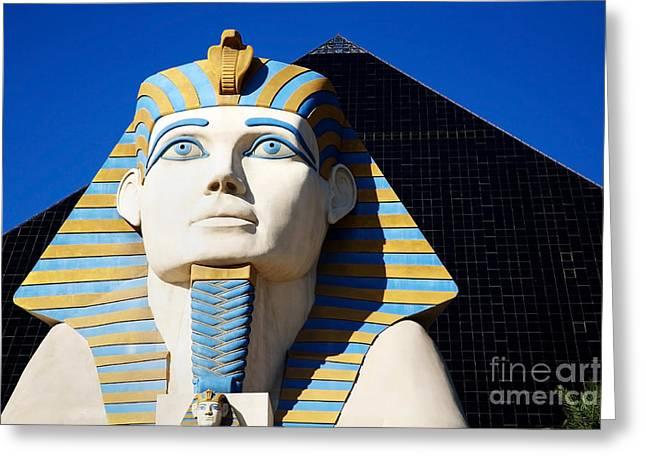 Luxor Greeting Cards - Luxor Las Vegas Sphinx Greeting Card by Kate McKenna