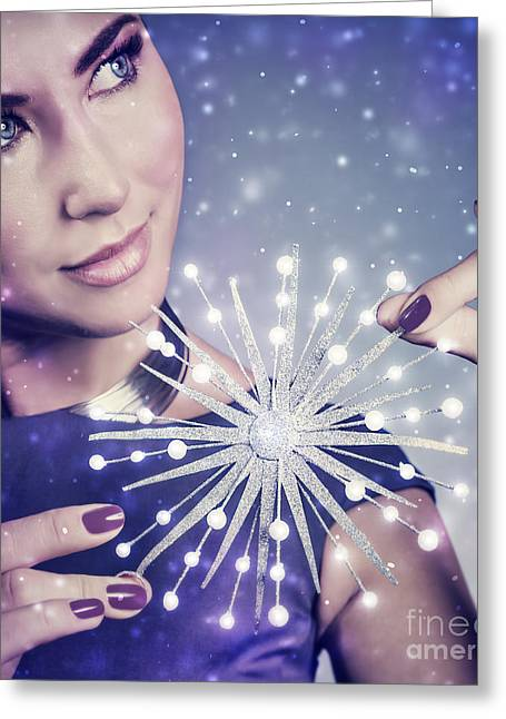 People Greeting Cards - Luxury beautiful woman Greeting Card by Anna Omelchenko
