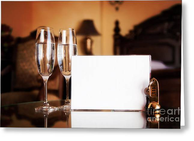 Wine Service Photographs Greeting Cards - Luxury hotel room Greeting Card by Michal Bednarek