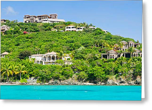 Tourist Resort Greeting Cards - Luxury Mansions On An Island, Peter Greeting Card by Panoramic Images