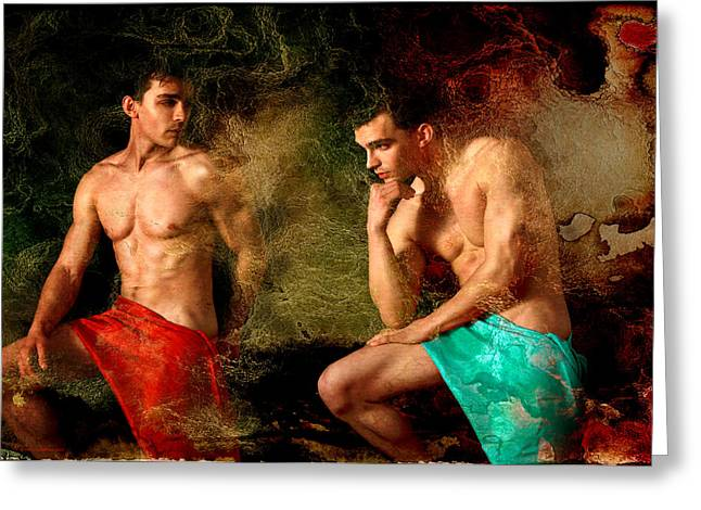 Male Torso Greeting Cards - Luxury Greeting Card by Mark Ashkenazi
