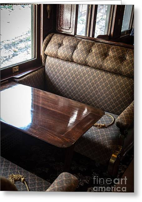 Seated Greeting Cards - Luxury Train Greeting Card by Edward Fielding
