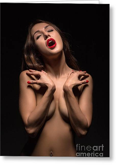 Satisfaction Greeting Cards - Luxury Woman Orgasm Greeting Card by Aleksey Tugolukov