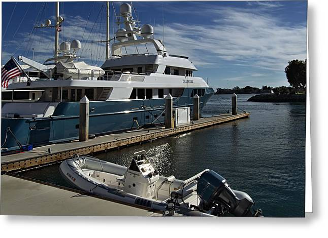 San Diego Harbor Cruise Greeting Cards - Luxury Yacht Daedalus Greeting Card by See My  Photos