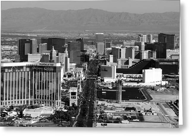 Las Vegas Art Greeting Cards - Las Vegas Nevada Pano work A Greeting Card by David Lee Thompson