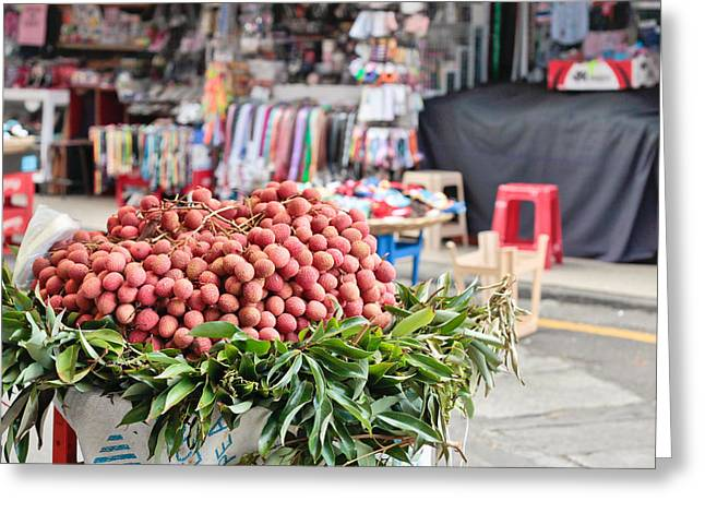 Mauritius Greeting Cards - Lychees Greeting Card by Tom Gowanlock