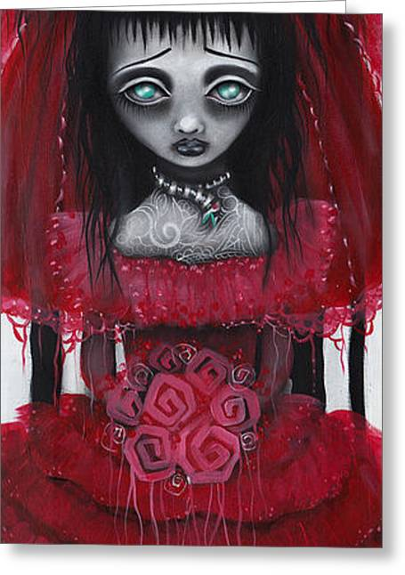 Pop Surrealism Paintings Greeting Cards - Lydia Greeting Card by  Abril Andrade Griffith