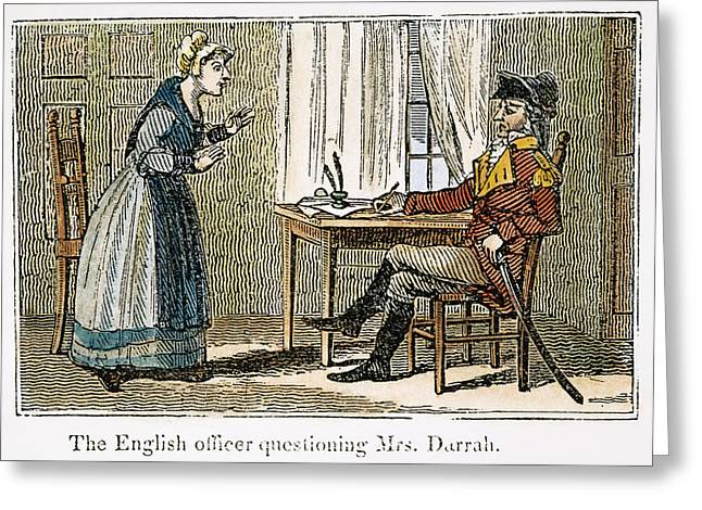 Quaker Greeting Cards - Lydia Darrah, 1777 Greeting Card by Granger