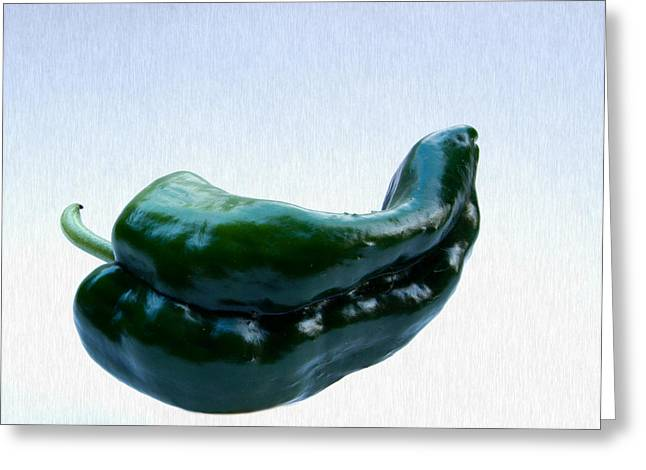 Jean Noren Greeting Cards - Lying Pepper Greeting Card by Jean Noren