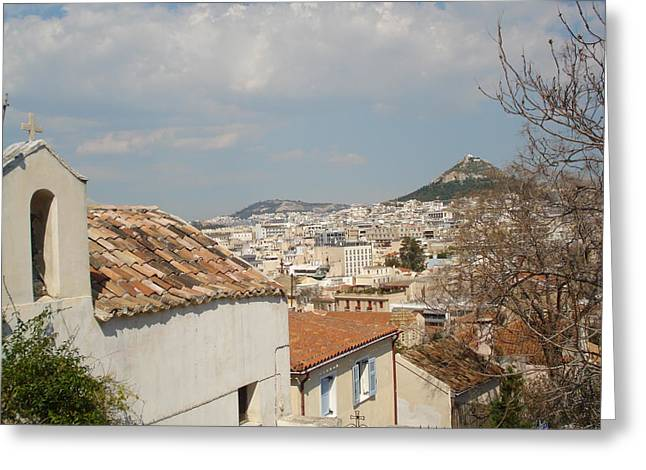 Lykabytos View Greeting Card by Greek View