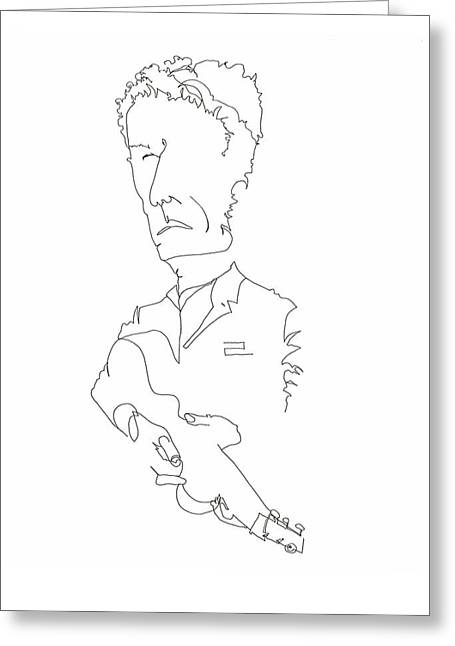 Singer Songwriter Pastels Greeting Cards - Lyle Lovett Greeting Card by Deb Yager