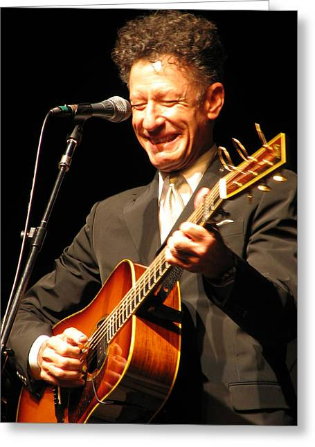 Zydeco Greeting Cards - Lyle Lovett Greeting Card by Julie Turner