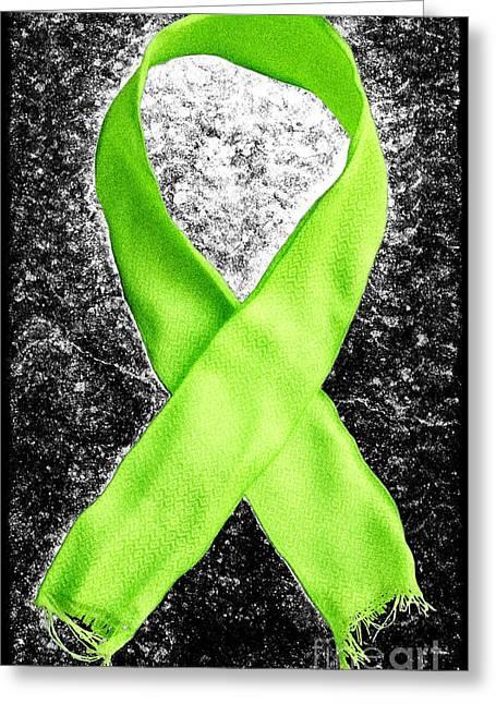 Antibiotics Greeting Cards - Lyme Disease Awareness Ribbon Greeting Card by Luke Moore